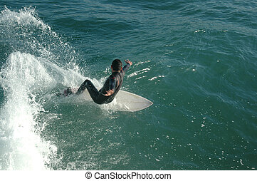surf - young boy surfing
