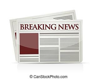 breaking news illustration design