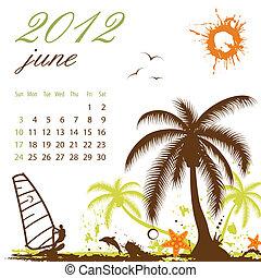 Calendar for 2012 June