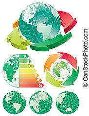 地球, エネルギー, 矢, 効率