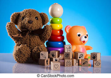 Baby toys - Colorful alphabet blocks, baby