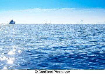 deep blue mediterranean sea