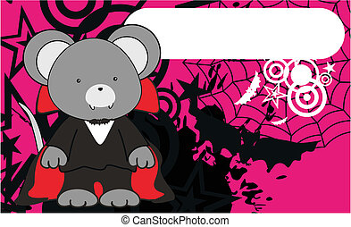mouse dracula cartoon background in vector format