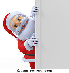 santa claus - 3d rendered illustration of a santa claus...