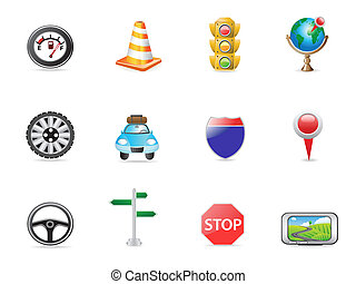 traffic icon set for design