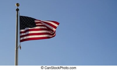 United States Flag Flying - United States America Flag...