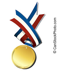 Realistic gold medal