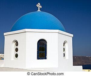 Church Dome On Santorini