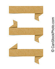 Talk tag recycled paper craft for make note stick on white