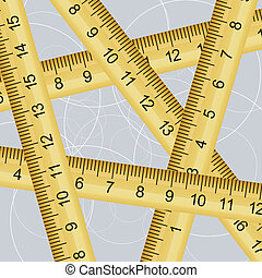 Vector illustration of a measuring tape texture