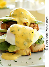 Bacon And Egg Benedict - Beautiful eggs benedict with bacon...