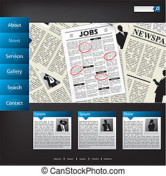 News website template design
