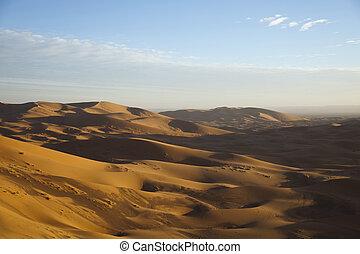 Desert landscape, merzouga, marocc - Sand Desert with Dunes...