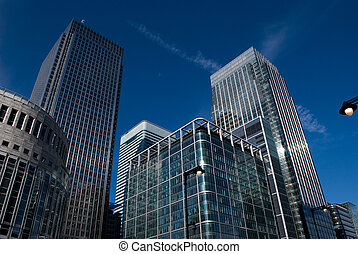 canary wharf - Canary Wharf famous skyscrapers of Londons...