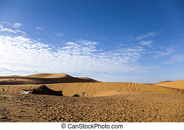 Sahara Desert, merzouga - Sand Desert with Dunes in Marocco,...