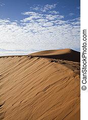 Moroccan desert dune, merzouga - Sand Desert with Dunes in...