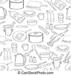 kitchen equipment pattern