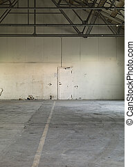 Worn Warehouse interior with bad condition