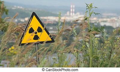 radiation 12 - Nuclear radiation or radioactivity warning...