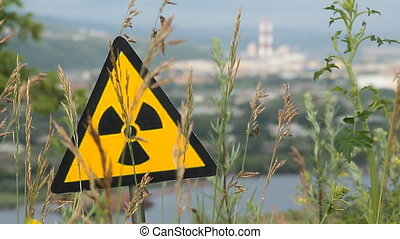 radiation 13 - Nuclear radiation or radioactivity warning...