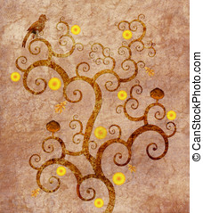Tree of life  - Tribute to Klimt - Tree of life
