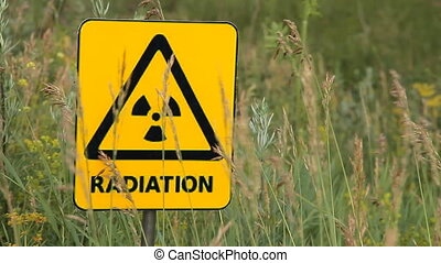 radiation 15 - Nuclear radiation or radioactivity warning...