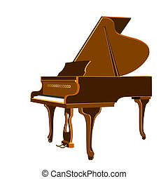 Grand Piano _isolated - Vector illustration of isolated...