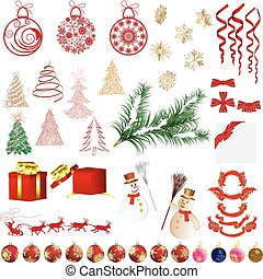 Christmas elements - Big collection of different vector...