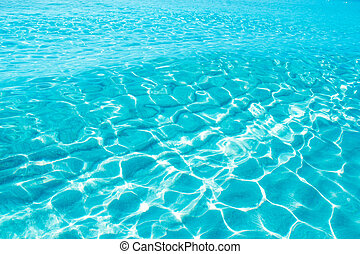 blue turquoise ripple Formentera water in Illetes beach if...