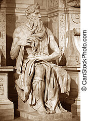 Statue of Moses (1514-1516) by Michelangelo in San Pietro in...