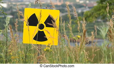 radiation 8 - Nuclear radiation or radioactivity warning...
