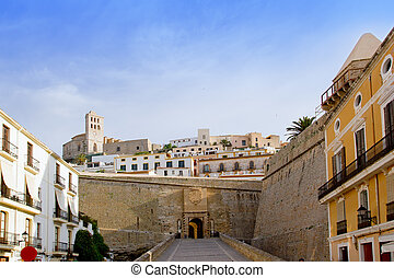 Ibiza castle fort main door to Eivissa downtown