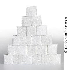 lump sugar pyramid - Studio photography of a pyramid made of...