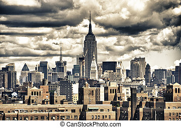 Empire State Building and NYC Skyline, USA