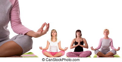 yoga meditation  - Meditation pose collection.