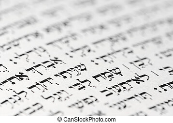 ancient hebrew writing - a hebrew text fromk an old jewish...