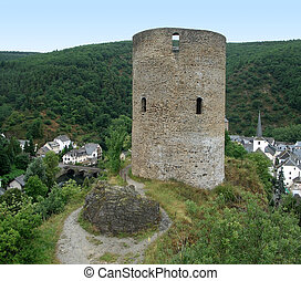 Esch-sur-Sûre and castle ruin - City named...
