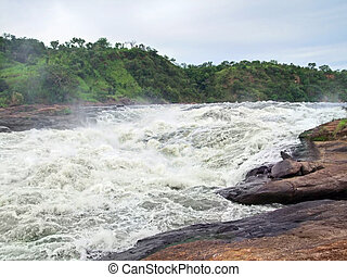 around Murchison Falls in Uganda