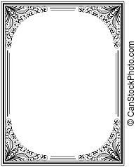 Vintage floral frame Decorative pattern