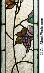 stained glass window - detail of a old stained glass window...