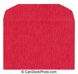 Red texture paper envelope front - Red texture paper...