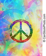 Abstract textured collage - Peace Background - Computer...