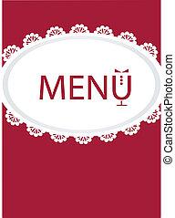 restaurant menu design , vector illustration