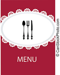 restaurant menu design with table utensil