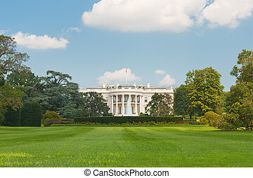 White House in Washington - The White House in Washington;...