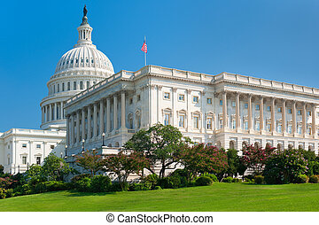 United States Capitol Building - Southwest side view of the...