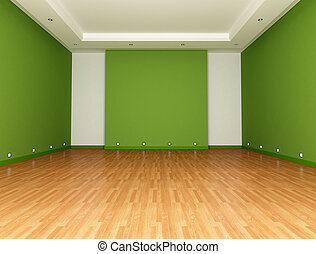 Green Empty room