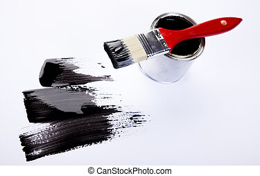 Color Image - Cans and paint on the colourful background