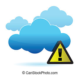 cloud with warning sign