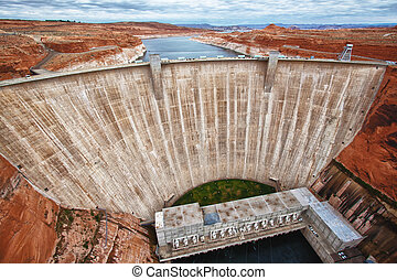 Glen Dam in Page, Arizona - view of the Glen Dam in Page,...